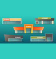 supermarket buildings set vector image vector image