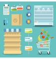 Supermarket food shopping internet concept vector image vector image