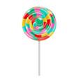 swirl lollipop vector image vector image