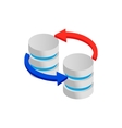 Sync database icon isometric 3d style vector image vector image