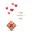 valentines day greeting card design in 3d style vector image vector image