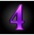 violet plastic figure 4 vector image