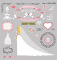 wedding bridal shower decor setbride invitation vector image vector image