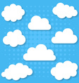 white clouds collection vector image vector image