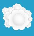 white paper flower vector image vector image