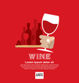 Wine Glass In Hand EPS10 vector image