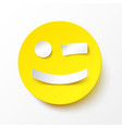 yellow smile in paper style vector image vector image