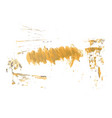 yellow watercolor hand painted brush grunge paper vector image vector image