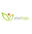 green leaf active beauty logo vector image