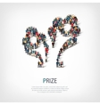 prize people sign 3d vector image