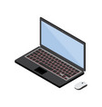 3d isometric digital art of laptop vector image