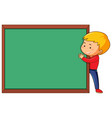 a man and chalkboard template vector image