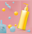 abstract scene with shampoo bottle vector image vector image