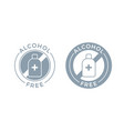 alcohol free icon for cosmetic product body and vector image vector image