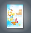 ard with butterflies vector image vector image