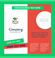 beach company brochure template busienss template vector image vector image