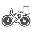 bicycle with box vector image