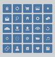 Blue Website Icons Set vector image vector image