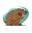 cartoon angry bear vector image