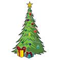 cartoon christmas tree graphic vector image