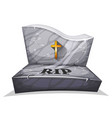 christian marble tombstone with rip vector image vector image