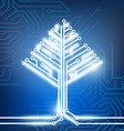 circuit board in the form of a tree vector image vector image