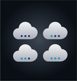 Cloud computing concept with buttons vector image vector image