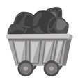 coal mine trolley cartoon vector image vector image