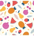 colorful tasty fruit seamless pattern vector image vector image