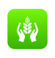 crop protection icon green vector image