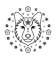 dog chinese zodiac sign vector image vector image