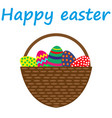 easter eggs in a basket vector image