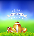 Enjoy Football American Time Background vector image vector image