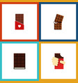flat icon chocolate set of dessert shaped box