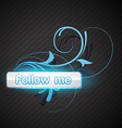 follow me button vector image