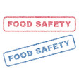 food safety textile stamps vector image vector image