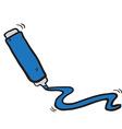 freehand drawn cartoon marker pen vector image vector image