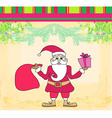 funny card with Santa Claus Vintage Paper Texture vector image vector image