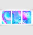gradient neon liquid banners set pink blue vector image vector image