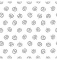 grey pattern of haloween pumpkins black and white vector image