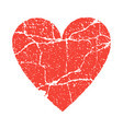 grunge paer red heart transparent vector image vector image