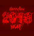 happy new 2018 year background 2018 vector image