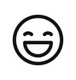 happy smile icon vector image