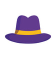 hat fashion trendy retro accessory isolated design vector image