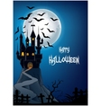 Haunted house on the hill vector image vector image
