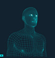 head of the person from a 3d grid vector image vector image