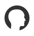 head symbol vector image