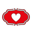 heart ornament vector image vector image
