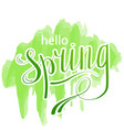 hello spring abstract background design element vector image