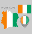ivory coast vector image vector image